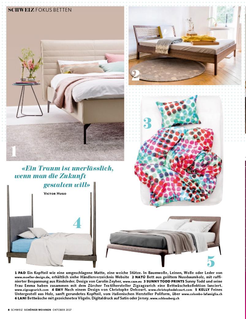 sch ner wohnen switzerland 10 2017 m ller design. Black Bedroom Furniture Sets. Home Design Ideas